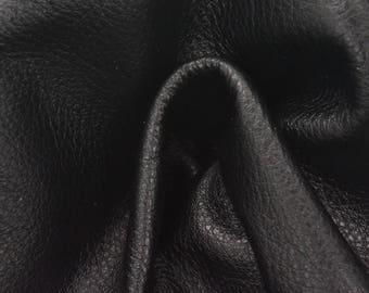 "Classic ""Little Black Dress"" ""Signature""  Leather Cow Hide 8"" x 10"" Pre-cut 2-3 oz flat grain TA-58533 (Sec. 8,Shelf 3,C)"