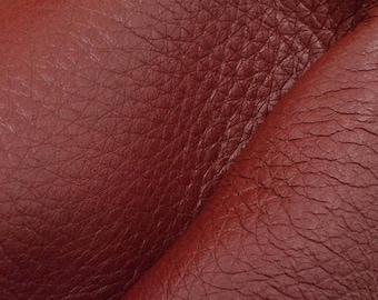 "NZ Deer Sale Riptide Red Leather New Zealand Deer Hide 8""x10"" Pre-cut 4 ounces -10 DE-66109 (Sec. 3,Shelf 2,D)"