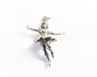 Vintage Sterling Performing Ice Skater Charm