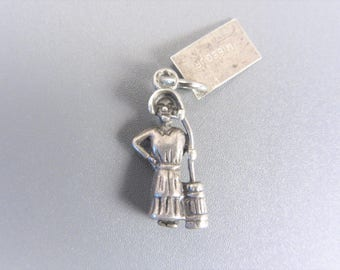 Vintage Sterling Woman with Butter Churn Charm by Bell Missouri