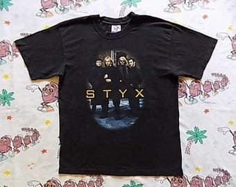 Vintage 90's STYX Grand Illusions '97 Tour T shirt, size Large band pic