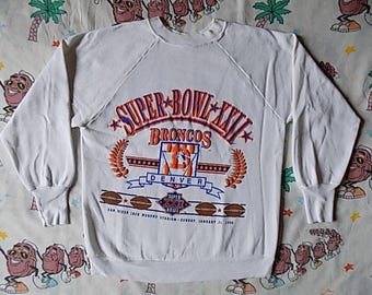 Vintage 80's Denver Broncos 1988 Super Bowl XXII pullover Sweatshirt, size Small by Logo 7 NFL
