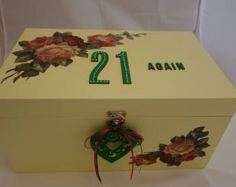 Large memorabilia Box / keepsake Box / special Birthday box, to store all those personal photos and items collected over the years