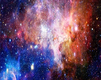 Galaxy pattern printed craft  vinyl sheet - HTV or Adhesive Vinyl -  colors nebula space pattern  HTV5055