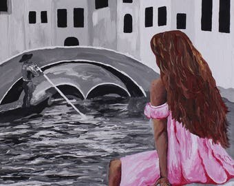 Girl in Pink Painting