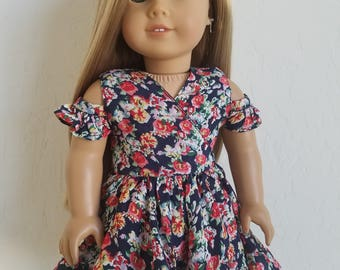 Wrap Style Frilly Dress