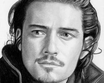 Original drawing of Orlando Bloom