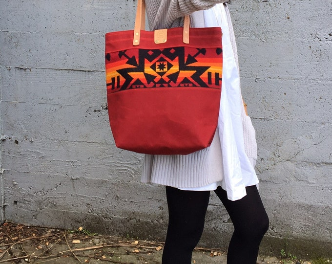 Pacific Tote - Waxed Canvas & Wool SALE!