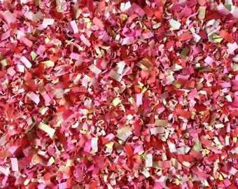 Red Pink Blush Gold Confetti Biodegradable Paper Wedding Party Throwing Decoration Craft Embellishments InsideMyNest (25 Guests)