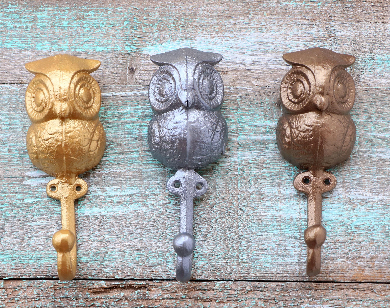 Owl Hooks Decorative Wall Hooks Owl Nursery Wall Decor
