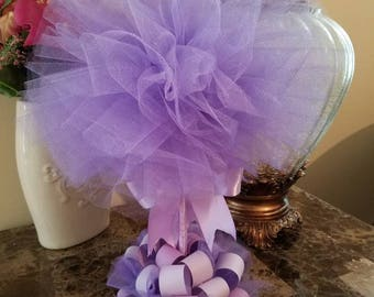 Lavender Tulle Topiary / Lavender Centerpiece / Baby Shower Centerpiece