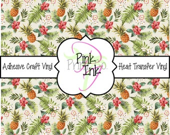 Pineapple Patterned Craft Vinyl and Heat Transfer Vinyl in pattern 756