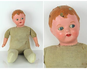 Vintage 1940's Baby Doll / Creepy Doll / Free Uk Shipping