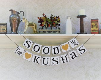 Engagement Party Decorations, Wedding Shower Signs, Custom personalized engagement party decor
