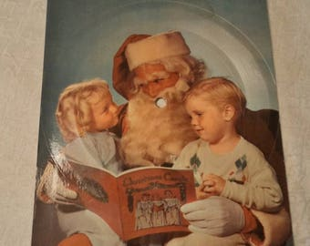 On Sale Retro Christmas Record Postcard