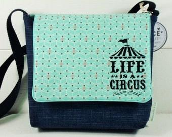 BAG - Shoulder bag for child green water