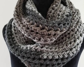 ON SALE Infinity Cowl Scarf - Chunky Scarf, Scarves for Women, Unisex Scarf, Crochet Neckarmer Scarf, Circle Scarf, Cowl Scarf, Handmade Sca