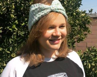 Hand knitted womens headband