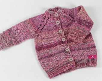 Hand knitted girls jacket