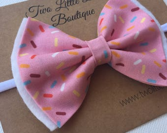 Pink Sprinkles Double Bow