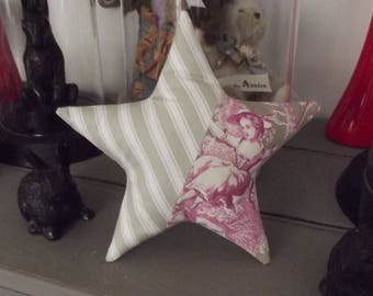 Star French toile de JOUY cushion