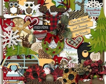 ON SALE NOW 65% off Through The Woods Digital Scrapbook Kit