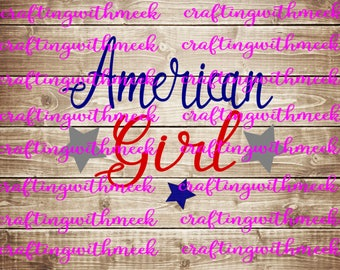 American Girl SVG - Cricut Explore - Cricut Design Space - Silhouette Cameo