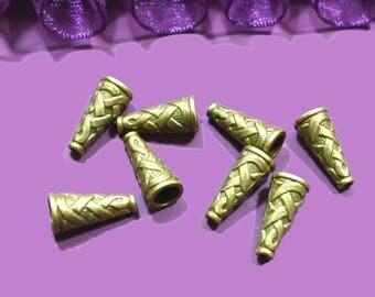 10 bead caps cones diameter 5 mm bronze