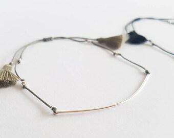 Laon cord thin bar bracelet_925 silver