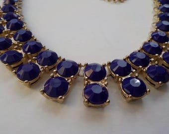 Jewelry SALE, Purple Necklace, Matinee Length, Purple and Gold, Gold Chain, Plum Necklace, Statement Necklace, Casual Wear, Fashion Necklace