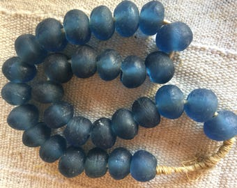 Ghana Large recycle glass beads Africa trade beads