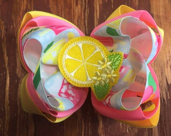 Lemonade Drop Triple Stack bow