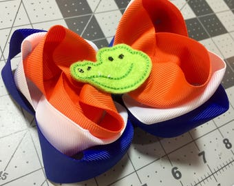 Florida Gators inspired bow