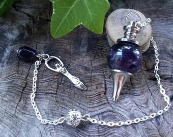 Crystal Pendulum - Amethyst Ball Pendulum - Pendulums - Dowsing - Dowsing Pendulum