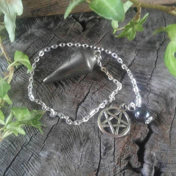 Pyrite Dowsing Pendulum - Pyrite Pendulum - Dowsing Pendulum - Dowsing - Divination - Divination Pendulum