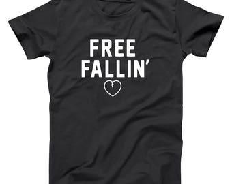 Free Fallin Falling Rip Heart Tom Petty Concert Basic Men's T-Shirt DT1990