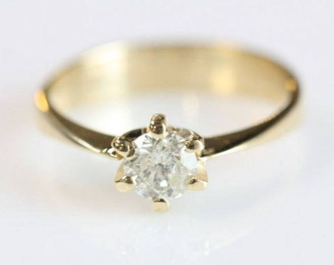 Solitaire diamond ring -0.30 ct Diamond Engagement Ring-Solitaire ring-Gold Ring -Women Jewelry-Promise ring-For her-Wedding & Engagement