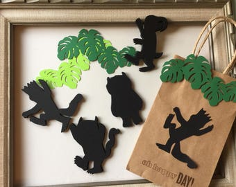 Where the Wild Things Are Party Chalkboard Stickers Wild One