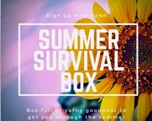 SUMMER SURVIVAL GIFTBOX - Themed yarn club box, exclusive hand dyed yarn and a plethora of goodies to get you through the summer