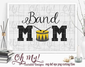 Band Mom Cutting File SVG Dxf Eps Png