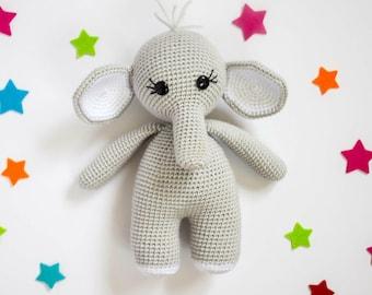 Crochet Elephant Pattern| Amigurumi Elephant| Crochet Elephant Toy| Crochet Elephant Pattern| Crochet Pattern| Fiber Arts