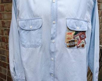 Authentic vintage mens denim Chipie shirt