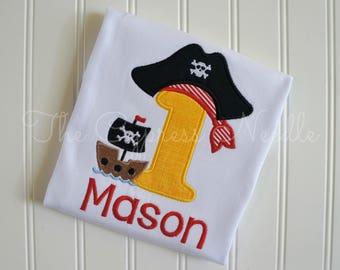 Pirate Birthday Shirt, Pirate Hat Shirt, Pirate Ship Shirt, Pirate First Birthday, Pirate Night Shirt, Ahoy Mateys Shirt, Talk like a Pirate