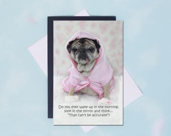 Pug Magnet - That Can't Be Accurate - 4x6 Pug magnet - by Pugs and Kisses
