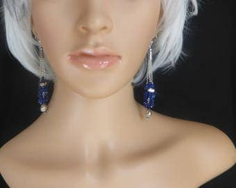 Quality Lapis Lazuli Chips and Sterling Silver Beads