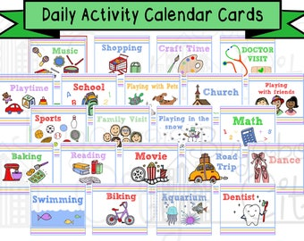 Activity Cards for Children's Calendar - Digital File