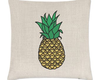 Pineapple Linen Cushion Cover