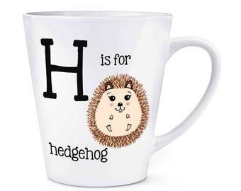 Letter H Is For Hedgehog 12oz Latte Mug Cup
