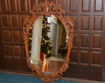 Mirror vintage carved wood