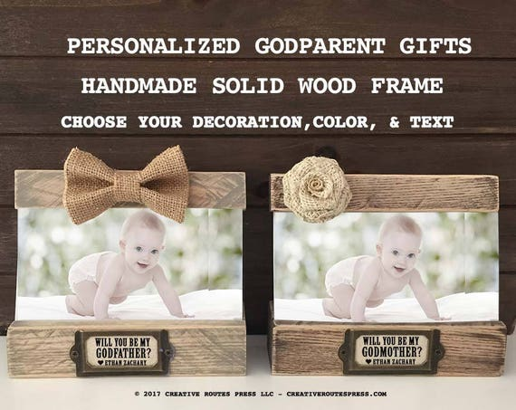 Godmother Gift Godparent Gift Personalized Gift For: Asking Godparents Personalized Frame Gifts Will You Be My